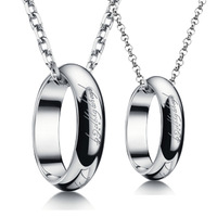 Jpf 925 silver platinum lovers pendant female lovers necklace male heterochrosis