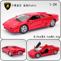 Wyly alloy car models lamborghini diablo red alloy car models