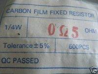 20PCS  1/4W 0.5ohm  5% Carbon Resistors