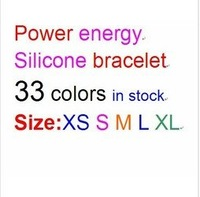 DHL Freeshipping 100pcs/lot Power ion Hologram Silicone Energy Balance