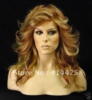 HEALTHY LONG MIXED COLOR WAVY WOMEN HAIR WIG/WIGS
