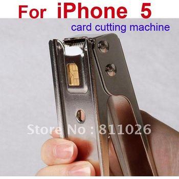 for iphone 5 Card to Nano Sim Card Cutter,SIM Card Cutter Cutting for iphone5 silver color + retail package,1pcs/lot