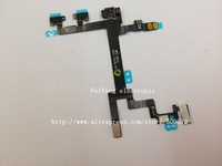 10pcs/lot  original Power on off Flex Cable  for iPhone 5 Volume Mute Vibrate Key free shipping