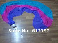 belly dance silk poi  veil, silk veil poi,dance poi,veil poi,poi veil of the free shipping belly dance