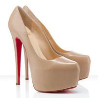 2012 fashion high-heeled shoes platform elegant dinner single shoes nude color ultra high heels red sole shoes wedding shoes
