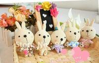 2012 new Microphone plush rabbit mobile phone pendant wholesale 100piece free shipping