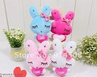 Free shipping Embrace heart rabbit plush mobile phone pendant bag jewelry 50piece
