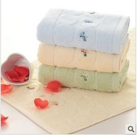Free shipping ! wholesale 34*76cm 105g Multi-Color 5pcs/lot 100% cotton soft face towel /face cloths/washer towel/hand towel