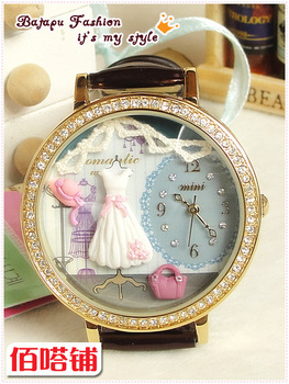 Mini table handmade polymer clay watch princess temptation cartoon watch ladies watch