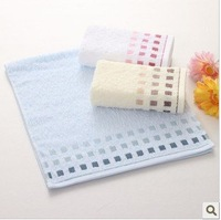 Free shipping ! wholesale 34*76cm Multi-Color 5pcs/lot 100% cotton slub yarn soft towel /face cloths/washer towel/hand towel