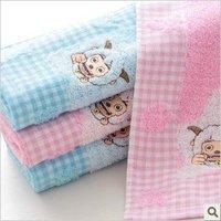 Free shipping ! wholesale 34*76cm multi-Color 5pcs/lot 100% cotton cartoon soft face towel /face cloths/washer towel/hand towel