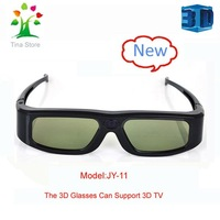 Promotion! USB recharge 3D active shutter glasses for TV fits SONY, TCL,LG,PHILIPS