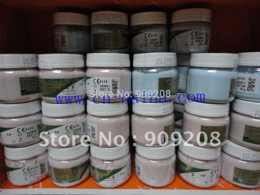 Noritake ex3 EX-3 super porcelain powder genuine A1B ceramics Super porcelana 50gdental denture laboratory technician material(China (Mainland))