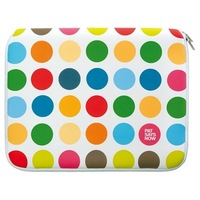 "Pat Says Now Polka Dot 8.9""-11.6"" and 12""-13.3"" Genius Swiss design Laptop Sleeve, Free Shipping !"