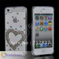 NEW FASHION HARD BLING RHINESTONE CRYSTAL CASE COVER FOR IPHONE 5 5G M-CS-5G-163