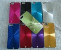 Free Shipping Wholesale 100PCS/LOT CD Aluminium Hard Case Cover Skin for iPhone5 5G
