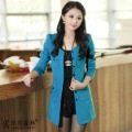 free shipping ! Spring and autumn casual slim medium-long cardigan plus size trench overcoat outerwear female herb
