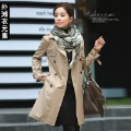 free shipping ! 2012 autumn women's spring and autumn fashion trench outerwear female double breasted slim women's trench