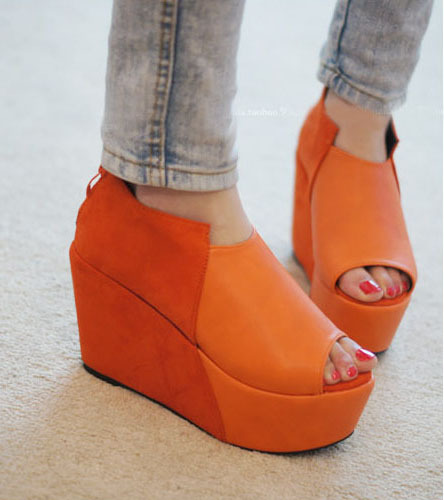2012 spring candy color open toe platform shoes platform shoes platform wedges single shoes 3 free shipping free ship(China (Mainland))