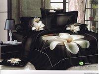 New Beautiful 4PC 100% Cotton Comforter Duvet Doona Cover Sets FULL / QUEEN / KING SIZE bedding set 4pcs Black background