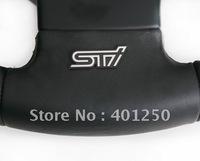 SUBARU STI steering wheel emblem stainless steel metal thin car badge discontinuing