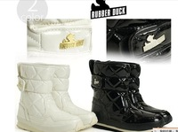 Free shipping.wholesales,lady's fashion boots.PU boots, snow boots,Hot.New style  Rubber Duck boots for woman