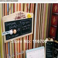 Free shipping Mini Wall-mount wooden Blackboard Paper Clip board