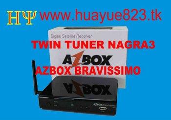 azbox bravissimo  free shipping  20pcs----by DHL \EMS\FEDEX Twin Tuner HD 1080P HOT!