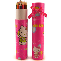 Hello kitty colored pencil 12 multicolour painting pencil school supplies stationery