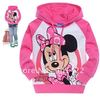 6pcs/lot Freeshipping kid's mickey mouse clothing,baby girls minnie mouse long sleeve t shirts with hat, cotton blouses