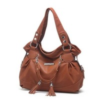 2012 women's handbag vintage handbag women's pleated shoulder bag tassel big bags