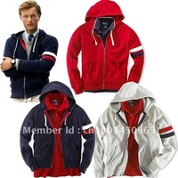 Free shipping Three colors of the big selling men's sweater solid color hoodies, handsome leisure jacket -S-M-L-XL-XXL