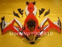 for suzuki gsxr600  2006 2007 fairing gsxr750 06 07 abs fairing k6  motocycle bodywork  free shipping white red logo