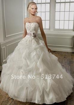 Elegant Custom New white/ivory wedding dress custom size2-4-6-8-10-12-14-16-18-20-22+