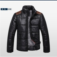 Free shipping men's casual wadded jacket patchwork cotton-padded jacket outerwear,male slim plus size thick winter jacket