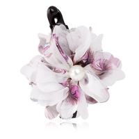 2012 chiffon pearl flower banana clip