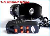 Car Electronic Warning Siren Alarm Police Firemen Ambulance Loudspeaker Speaker with MIC
