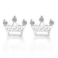 925 pure silver stud earring rhinestone small pearl stud earring Women