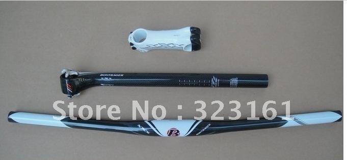 Free Shipping BONTRAGER XXX carbon fiber 31.8 handlebar+ 100mm stem + seat ...