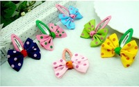 Free Shipping 40pcs/lot  Fashion Children hairpin Butterfly Bow BB Hair Clip Hair accessory 6 COLORS wholesale