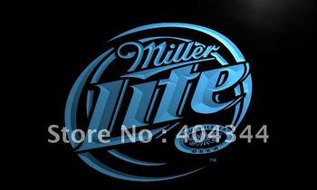 LE016-TM Miller Lite Beer Displays logos Neon Light Signled Crystal Light Box Hang Doorplate Shop Ultra-thin Light