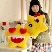 J2 Super cute plush toy happy star lover cushion holding pillow yellow, 1pair
