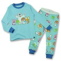 Комплект одежды для девочек 2013 New Children Girls boys Clothing Set Long Sleeves cotton pajamas suit cartoon Winnie Design Kis clothing sets