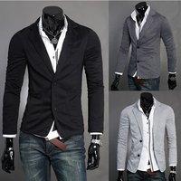 PROMOTION NEW,  figure flattering slim elegant cool men's blazer jacket coat