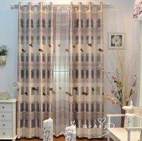 2014 window voile Curtains for living room bedroom girl boy room grey pink window screening