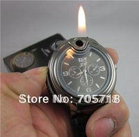 Military Lighter Watch Man Quartz Wristwatch Butane Cigarette Cigar Men Watches Lighter Item 3 Colors Freeshipping WWO0001