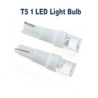 Free shipping 30pcs LED automotive lighting car LED bulb T5 1 chip led bulb DC 12V LED lamp