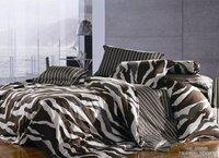 New Beautiful 4PC 100% Cotton Comforter Duvet Doona Cover Sets FULL / QUEEN / KING SIZE bedding set 4pcs colorful stripe WAP-573