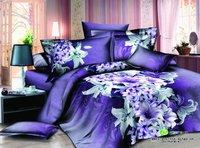 New Beautiful 4PC 100% Cotton Comforter Duvet Doona Cover Sets FULL / QUEEN / KING SIZE bedding set 4pcs nice flowers WZP-0848