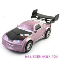 Cars 2 Purple tail alloy model children sound and light pull back function cars kids toys gift + free shipping